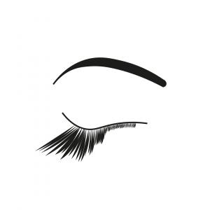 Illustration Hashtag Lyrik Verschlossene Augen