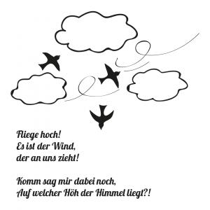 Illustration Hashtag Lyrik Fliege hoch